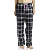 Hue Sleepwear Women's Snuggly Plaid Long Pajama Pants