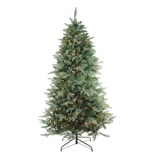 "4.5' x 35"" Pre-Lit Washington Frasier Fir Slim Artificial Christmas Tree - Clear Lights - green"