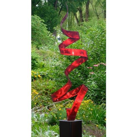 "Statements2000 Metal Garden Sculpture Indoor Outdoor Yard Art Decor by Jon Allen - Twist - 49"" x 15"" x 15"""