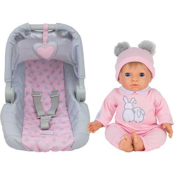 Tiny Treasures Toy Baby Doll w/ Carseat Set - Blonde Doll. Opens flyout.