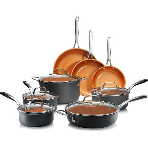 Gotham Steel PRO Hard Anodized 13PC Non Stick Cookware Set