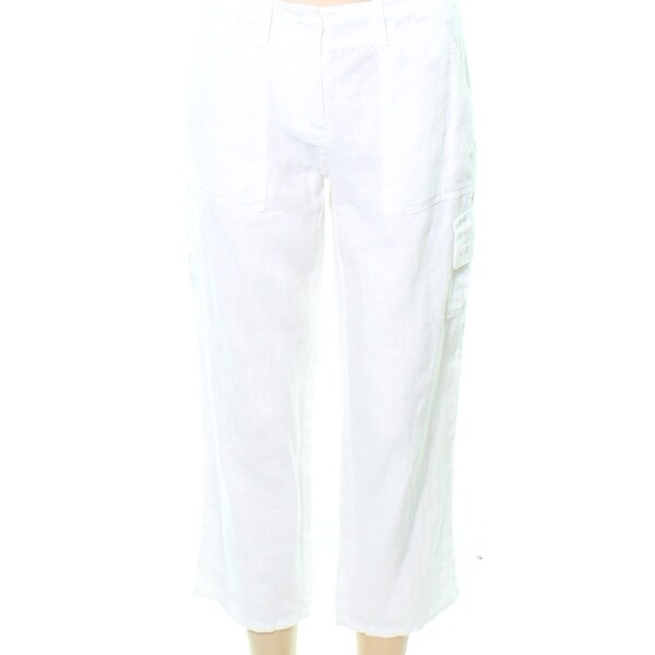 bf0220af9e02 Shop Tommy Bahama White Women's Size 0 Side Pockets Cropped Pants - Free  Shipping Today - Overstock - 27553477