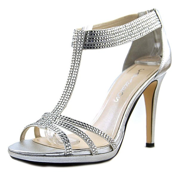 Caparros Maddy Women Open Toe Synthetic Silver Sandals
