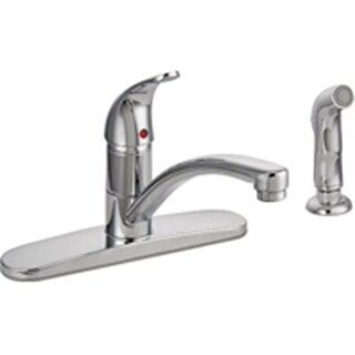 Mintcraft 67534-1001 8 In. Kitchen Faucet 1 Handle With Spray - Chrome