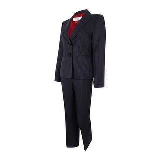 Le Suit Women's Two-Button Pinstriped Pant Suit