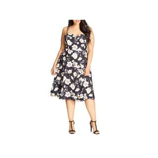 bc84632a686 City Chic Womens Plus Casual Dress Strappy Floral Print