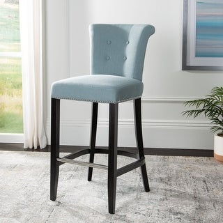 "Safavieh Addo Sky Blue 30-inch Bar Stool - 19.6"" x 24.2"" x 43.7"""
