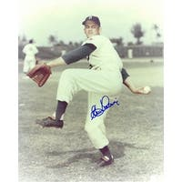 Clem Labine signed Brooklyn Dodgers 8x10 Photo deceasedpitching