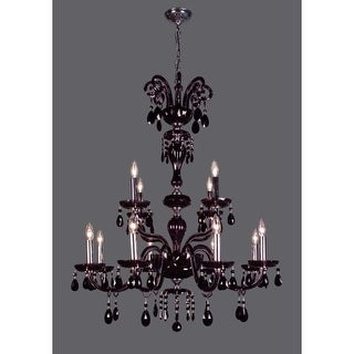 """Classic Lighting 82008- 42"""" Crystal Chandelier from the Monte Carlo Collection"""