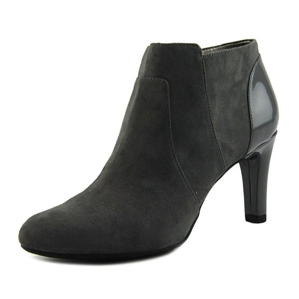 Bandolino Liron Women Round Toe Canvas Gray Bootie
