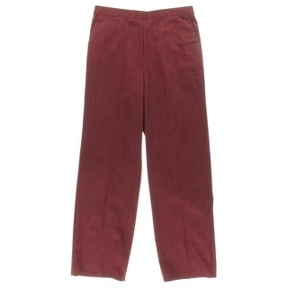 Alfred Dunner Womens Petites Casual Pants Solid Cotton - 10P