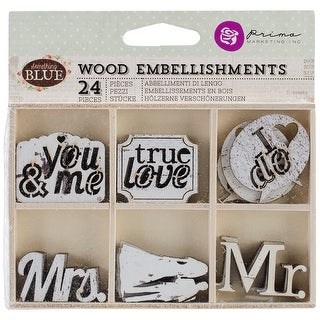 Prima Marketing Laser-Cut Wood Icons In A Box 24/Pkg-Somethi - something blue, 6 designs