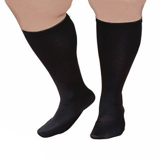 "Unisex Extra Wide Moderate Compression Knee High Socks -Up to XW / 4E & 26"" Calf - One size"