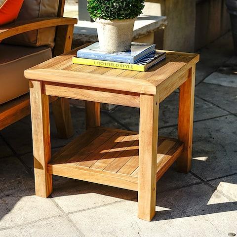 Laurel Teak Square Outdoor Side Table