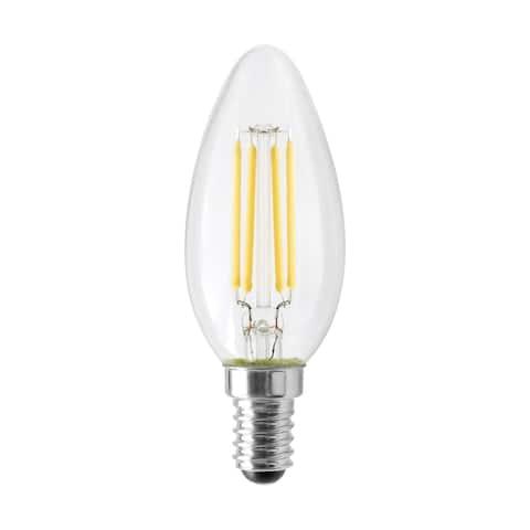 4.5 Watt B11 LED Clear 350 Lumens 4000K European base 120 Volt