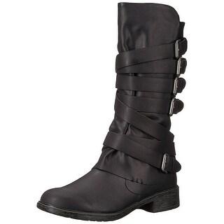 Report Womens huck Almond Toe Mid-Calf Fashion Boots