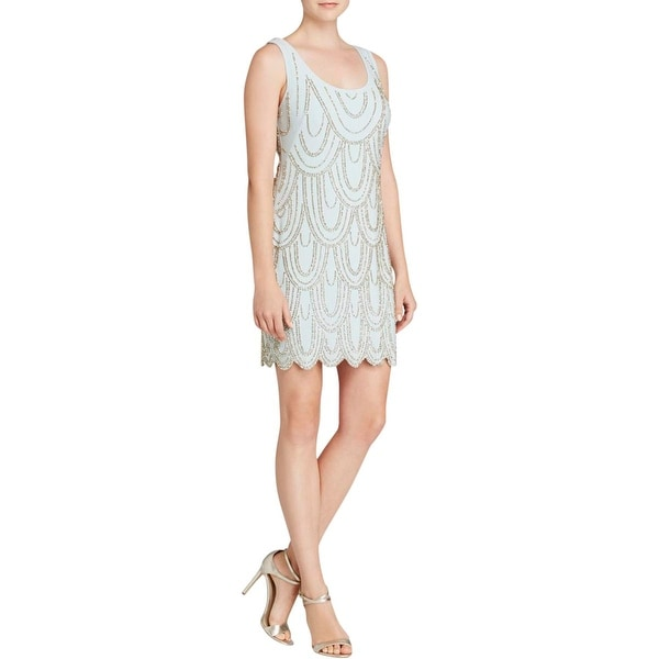 Aqua Womens Cocktail Dress Matte Jersey Beaded