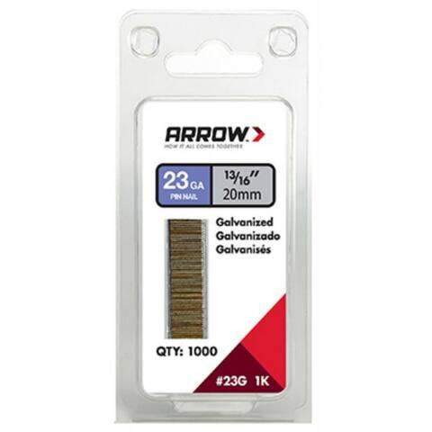 "Arrow Fastener 23G20-1K Galvanized Pin Nails, 23-Gauge, 13/16"", 1000-Pack"