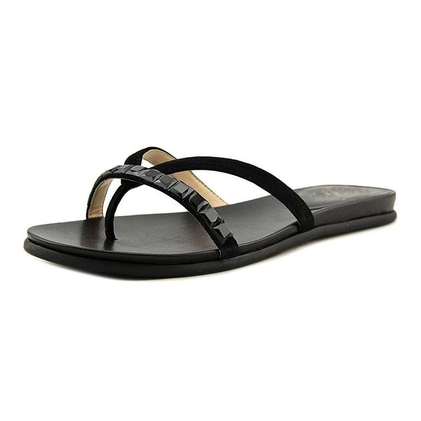 4069ade00c74 Vince Camuto Womens Eddinal Leather Split Toe Special Occasion Slide Sandals