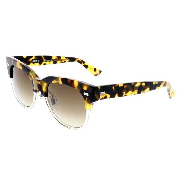 d4f10b2c88c Gucci GG3744 S 3MQ Spotted Havana Wayfarer Sunglasses - spotted havana -  52-19