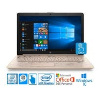 "HP 17 Intel i3-8130U 8GB 1TB HDD 17.3"" Touch Screen Laptop with MS Office 365 - Pale Rose Gold"