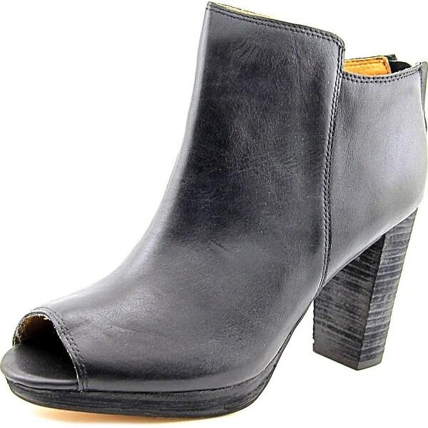Corso Como Edie Women Peep-Toe Leather Ankle Boot