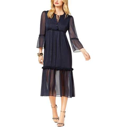 Rachel Zoe Womens Crinkle Chiffon Empire Dress