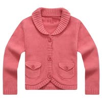 Richie House Girls' Lovely Cardigan with Matching Button and Lapel Collar