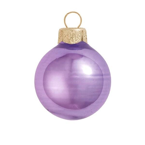 "8ct Shiny Lavender Purple Glass Ball Christmas Ornaments 3.25"" (80mm)"