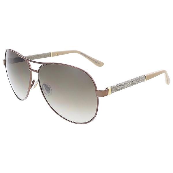 5d36eccabd Shop Jimmy Choo LEXIE S 0EJW Bronze Aviator sunglasses - 61-12-135 ...