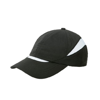 Low Profile Moisture Absorbing Cap- Black - WHITE/BLACK
