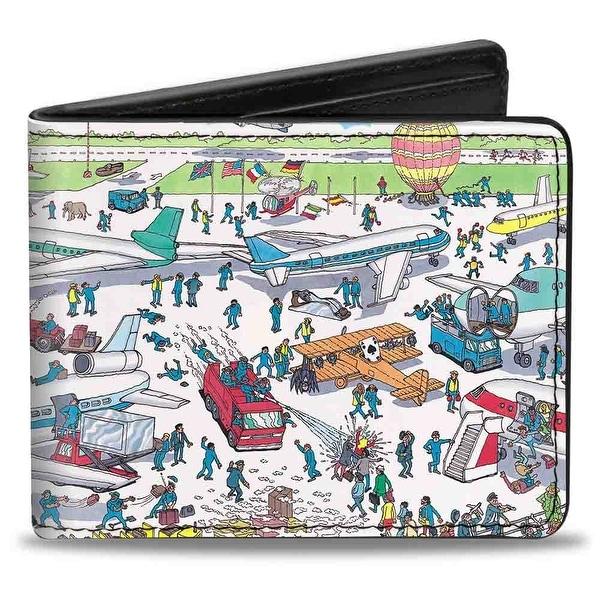 Where's Waldo? Airport Scene Bi Fold Wallet - One Size Fits most