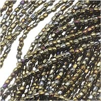 Czech Tri-Cut Seed Beads 10/0 'Brown Iris' (1 Strand/360 Beads)