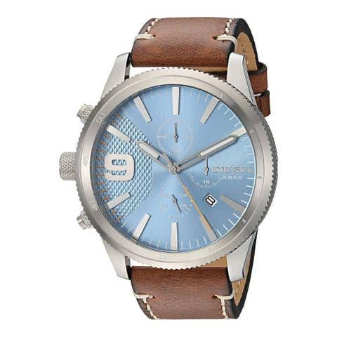 Diesel Men's DZ4443 Rasp Stainless Steel Brown Leather Watch - 1 Size