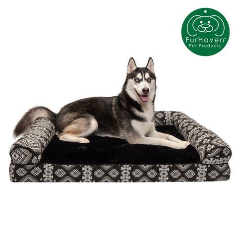 FurHaven Pet Bed Southwest Kilim Orthopedic Sofa Dog Bed