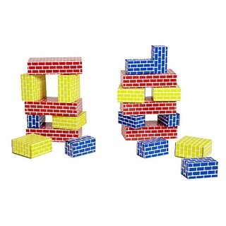 Childcraft Corrugated Building Blocks, Various Sizes, Primary Colors, Set of 36