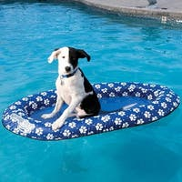 Heavy Duty Paddle Paws 48 Inch Spring Pool Float for Pets Under 65 Pounds - Blue