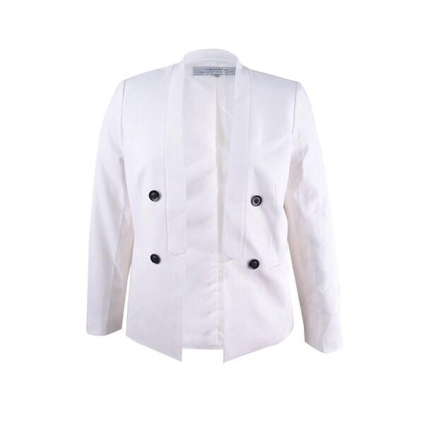 2971b5109c5e5 Shop Tahari ASL Women s Open-Front Double-Breasted Blazer - On Sale ...