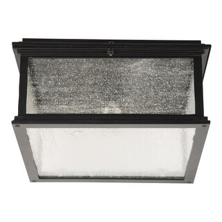 "Craftmade Z3227-11 Gentry Single Light 13-1/8"" Wide Outdoor Flush Mount Square Ceiling Fixture with Clear Seeded Glass"