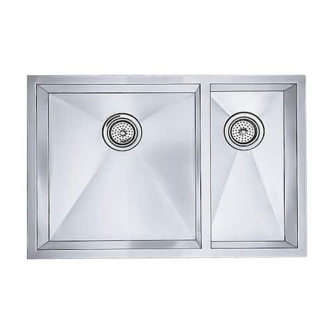 Blanco Precision 18-In X 31-In Double-Basin Undermount Kitchen Sink