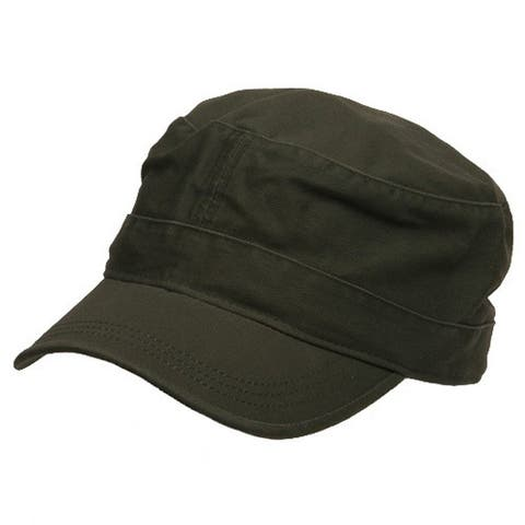 Flat Top Army Cap - Olive