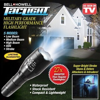 Bell-Howell 1176 TacLight Military Grade Tactical Flashlight, As Seen On TV
