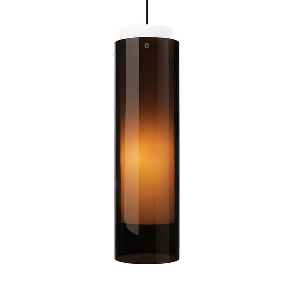 Tech Lighting 700tdecgpb Echo Grande Transpa Havana Brown Cylinder Shade Lin N A