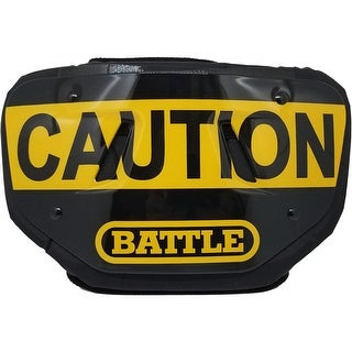Battle Sports Science Caution Adult Chrome Football Back Plate - One Size