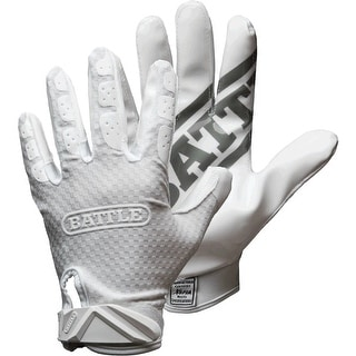 Link to Battle Sports Science Triple Threat Adult Football Receiver Gloves - White Similar Items in Team Sports Equipment