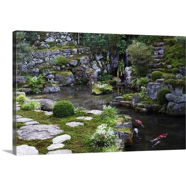Shop Zen Garden With Carps Jikko In Canvas Wall Art Free
