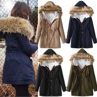 Women's Slim Winter Cotton-padded Jacket Fashion Coat Fur Collar