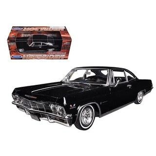 1965 Chevrolet Impala Black Low Rider 1/24 Diecast Model Car by Welly