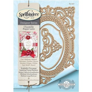 Annabelle's Trousseau Layering Frame - Chantilly Paper Lace By Becca Feeken