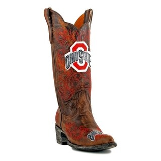 Gameday Boots Womens College Team Ohio State Buckeyes Brass OST-L058-1